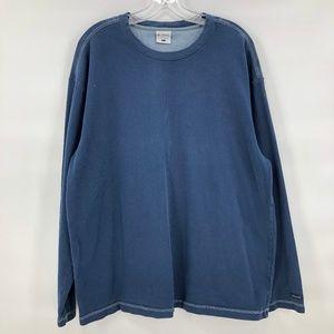 Columbia navy long sleeve knit shirt